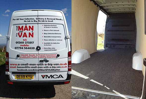 Man and Van removal service Congleton in Cheshire